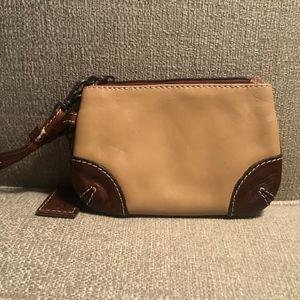 Latico Tan Leather Wristlet